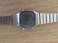Casio silver watch