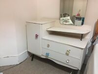 Vintage Upcyled Dressing Table with Mirror, shabby chic style