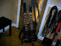Gibson Epiphone twin neck guitar