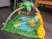 Fisher-Price Rainforest Gym / Baby Playmat with Music and Lights