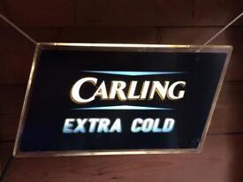 Carling illuminated bar sign
