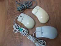 Microsoft mice, 3 microsoft,1 logitech,2A Open and 1 Mitsumi