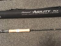 Shakespeare aguility fly rod 10 ft 6 weight brand new