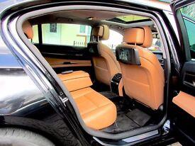 BMW 730L D 3.0 DIESEL AUTO 4DR SALOON FSH HPI CLEAR CAR TRACKER TV DVD SATNAV MINT CONDITION