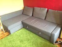 Friheten Corner Sofa Bed Grey £150