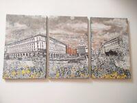 Large original canvas artwork - trio