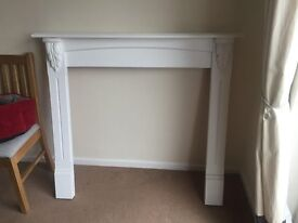 Mantle Piece - White Painted Soft Wood