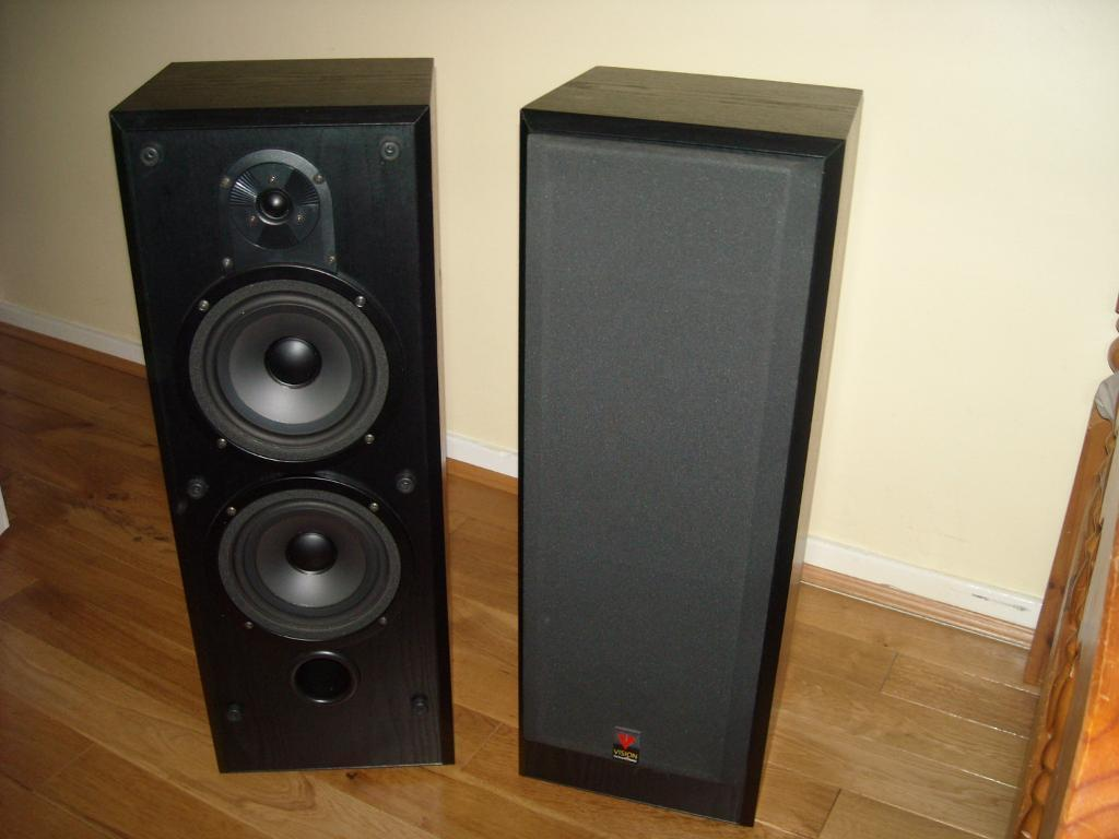 Vintage bowers wilkins vision design ds3 floor standing speakers and 12 stands in patchway for 12 floor speakers
