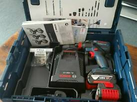BOSCH GDX18 V-EC 18V IMPACT WRENCH/DRIVER X2 BATTS CHARGER LBOXX **BRAND NEW UNUSED**