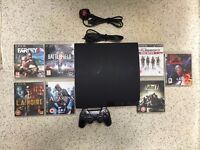 PlayStation 3 with all leads and 7 games