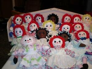 "15"" Raggedy Anne & Andy dolls"