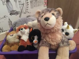 Box of soft toys