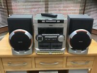 Phillips mini hi fi system with remote control