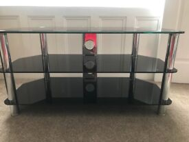 Solid Glass TV Stand