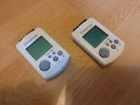2 Dreamcast VMU's (Visual Memory Units)