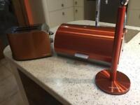 Murphy Richards toaster bread bin and kitchen roll holder