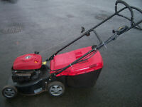 """MOUNTFIELD SP474 18"""" self propelled mower with grass box, gwo, serviced"""