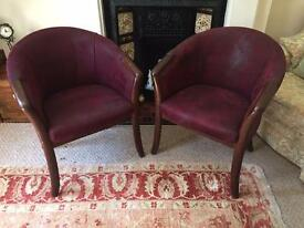 X2 Suede High Back Chairs