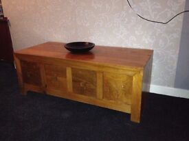 SOLID MANGO WOOD TABLE/TV UNIT