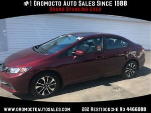 2014 Honda Civic EX, 43872 KM, SUNROOF, HEATED SEATS, REAR CAMER
