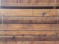 Factory Second Chestnut Hardwood Garden Sleepers | Untreated | 2400 x 200 x 100