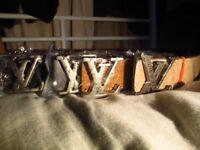 Louis Vuitton joblot x4 belts LV