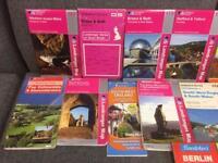 17 x Ordance Survey and tourist travel maps retro collection