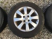 195/65/15 Vauxhall alloys