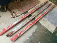 3 x Vintage Fairground Circus Swing Wooden Tapered Poles for restoration