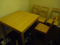 IKEA dining table and 4 IKEA Bertil chairs