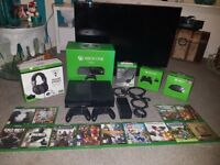 Xboxone 1tb console + games + accessories + tv bundle