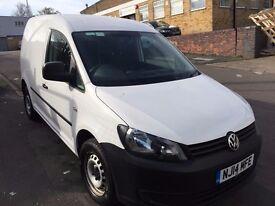 VW CADDY VAN 1.6TDI 2014/14 REG 80K NO VAT £6495 NO VAT