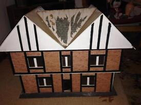 Hand built dolls house cottage style