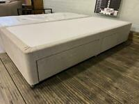 SUPER KING SIZE DIVAN BED BASE WITH DRAWERS