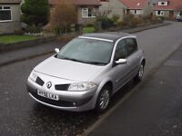 2006 Renault Megane 1.5dci 106 Dynamique, Silver, Panoramic sunroof, Very good condition