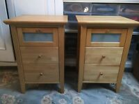 John Lewis beech chest of drawers & side tables