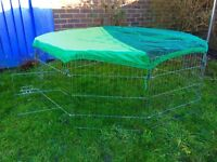 Rabbit run large 8-Panel Playpen with Free Safety Net 55 x 55-inch