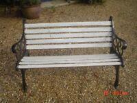 garden bench for restoration