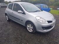 2008 Renault Clio 1.2 Low Miles Years MOT Ideal 1st Car. 3 month Scoture warranty