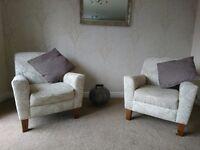 2 X Next armchairs