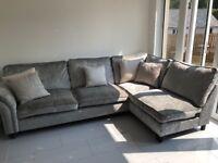Silver corner sofa scs