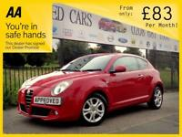 ALFA ROMEO MITO 1.2 SPRINT JTDM-2 3d 95 BHP Great Looking Car, FSH (red) 2011