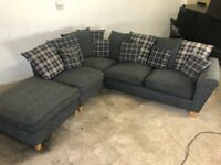 Grey next corner sofa, couch,(SOLD PENDING DELIVERY)