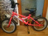 boys bike red/black 4+