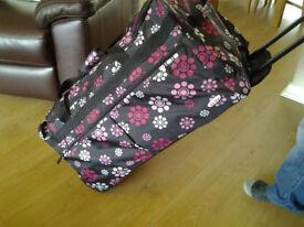 "2 Extra Large 30"" Wheeled Lightweight Suitcase Luggage Trolley Case Holdall Bag"
