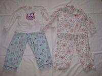 2 Pairs of Girls Pyjamas Age 5-6