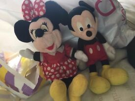 mickey and minnie soft toys