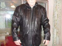 man's leather coat