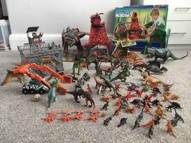 Huge dinosaur collection