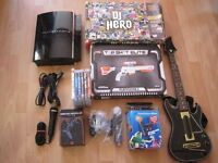 SONY PLAYSTATION 3 ,55GB With GAMES ,NEW PAD,NEW GUN,GUITAR AND MORE